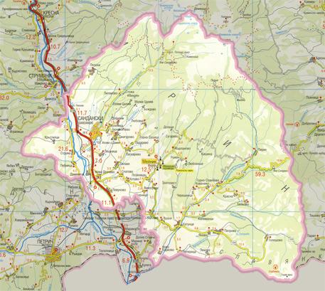 Karta Na Obshina Sandanski